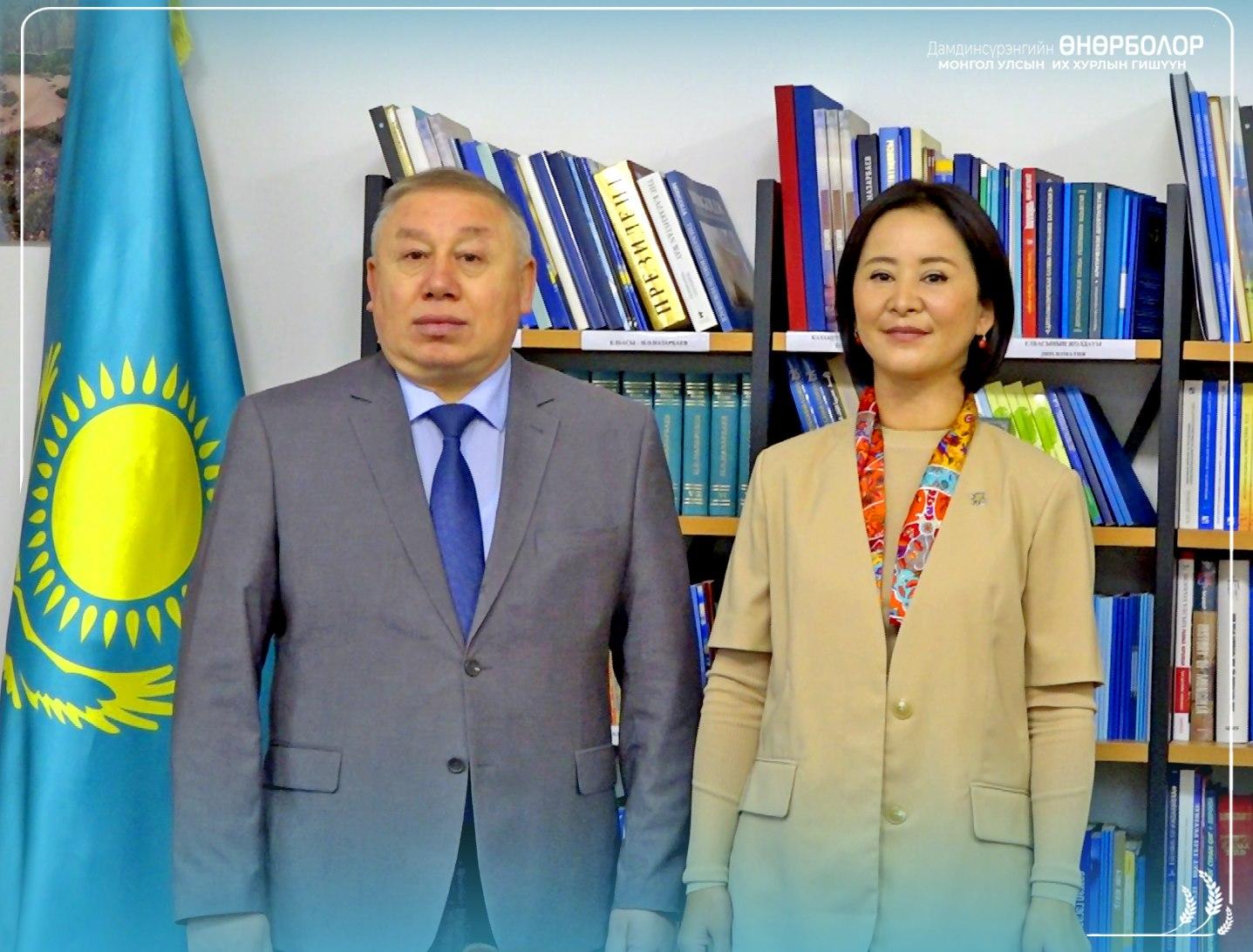 Д.Өнөрболор гишүүн БНКУ-аас Монгол Улсад суугаа Онц бөгөөд Бүрэн эрхт Элчин сайд Жалгас Адылбаевтай уулзлаа