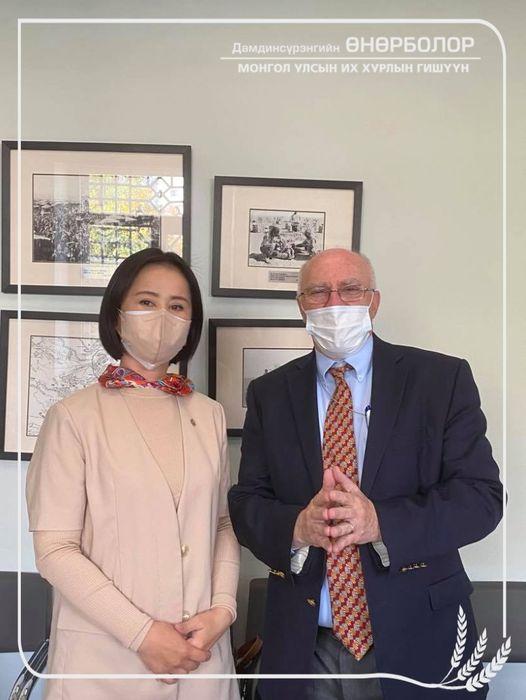 АНУ-аас Монгол Улсад суугаа Элчин сайд Майкл Клечески хүлээн авч уулзлаа